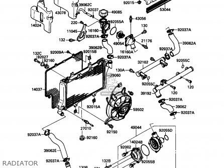 Kawasaki ZX750F4 NINJA 750R 1990 USA CALIFORNIA parts