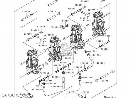 Kawasaki ZX750M2 NINJA ZX7R 1994 USA CALIFORNIA parts