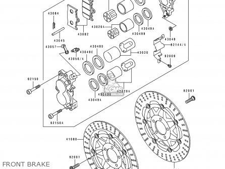 Kawasaki ZX750M2 ZXR750R 1994 EUROPE UK FR AR FG IT parts