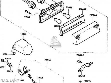 Kawasaki ZX900A1 1984 EUROPE UK FR GR IT NR SD parts lists