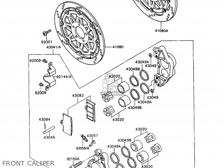 Kawasaki ZX900A10 GPZ900R 1993 NETHERLANDS FG parts lists