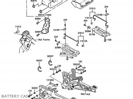 Kawasaki Zx900a5a Gpz900r 1988 United Kingdom parts list