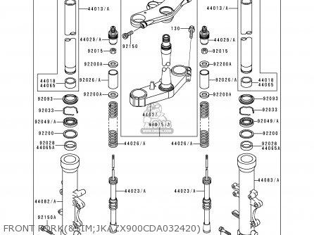 Kawasaki ZX900D2 NINJA ZX9R 1999 FG ST parts lists and