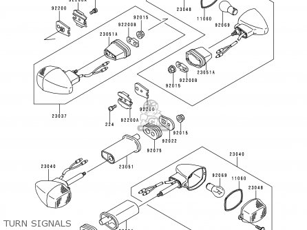 Kawasaki Zx900d2 Ninja Zx9r 1999 Fg St parts list