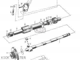 KCIK STARTER SHAFT BUFFER for T20 TC250 SCRAMBLER 1965