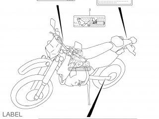 Label,vacuum Hose Routing Dr-z400sm 2005 (k5) Usa (e03