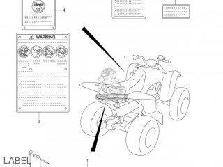 TAG,ATV CATEGORY for LT-Z400Z QUAD SPORT 2008 (K8) USA