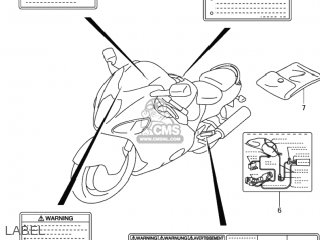 LABEL,VACUUM HOSE ROUTING for GSX1300R HAYABUSA 1999 (X
