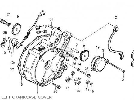 COVER,L.CRANKCASE for TRX200SX FOURTRAX 200SX 1986 (G) USA