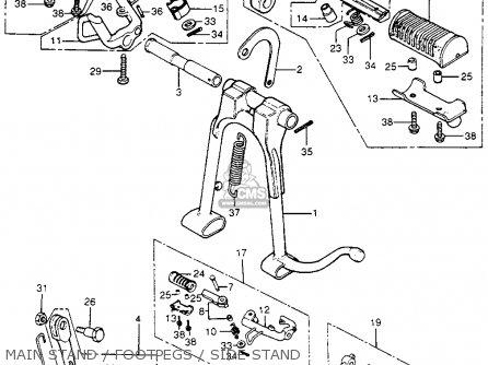 BAR ASSY,SIDE, fits CB400F SUPER SPORT 400 FOUR 1975