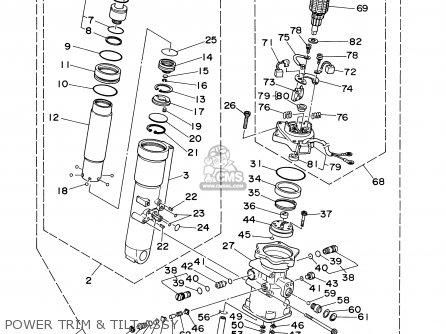 Power Trim & Tilt Assy F50/t50tlry 2000 62X43800034D