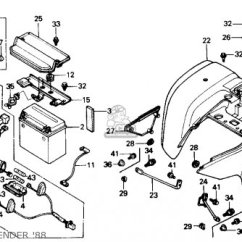 1990 Honda Accord Wiring Diagram 2002 Ford Explorer Si Fuse Database Cover R 109 For Trx300 Fourtrax 300 1995 S Usa Order At Cmsnl Civic Box