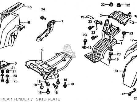 BRKT,R.RR FEND(B) for FL350R ODYSSEY 350 1985 (F) USA