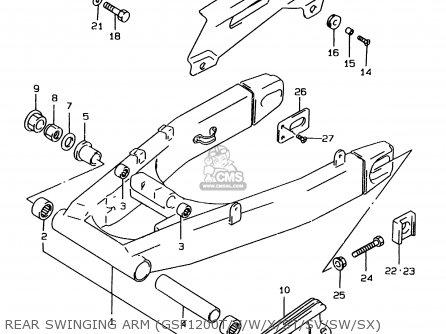 SWINGINGARM ASSY,RR for GSF1200 1998 (W) (E02 E04 E18 E22