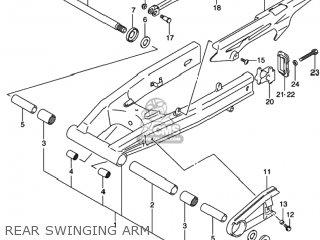 6121419F00 (6121419f10) Nut,rear Swing Arm Pivot Bolt