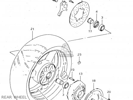 Drum,rr Sprocket Gsx1300r Hayabusa 1999 (x) Usa (e03