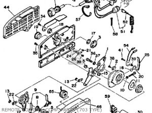 YAMAHA 703 REMOTE CONTROL WIRING DIAGRAM  Auto Electrical