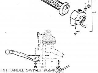 GRIP ASSEMBLY,THROTTLE, fits GS750 1977 (B) USA (E03