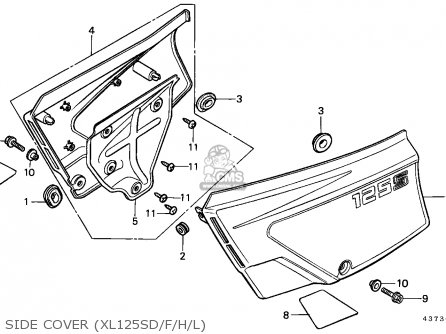 Protr,side Cover Xr200 1984 (e) Usa 83642KF9300
