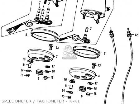 (37260kg1920) Cable,tachometer Xl250 Motosport K0 1975 Usa