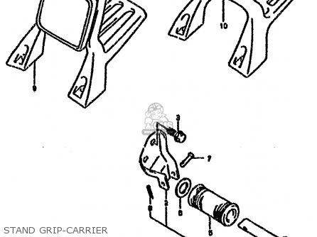 CARRIER SET,SPORT (SILVER) for VX800 1990 (L) (E01 E02 E04