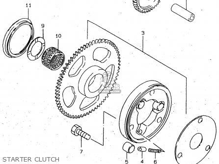 CLUTCH SET,STARTER for TU250X 1997 (V) (E02 E04 E17 E24