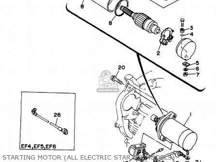 Starting Motor Assy Ef4600de Ef6600de Yg4600d Yg6600d