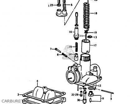 Suzuki A100 1973 (k) parts list partsmanual partsfiche