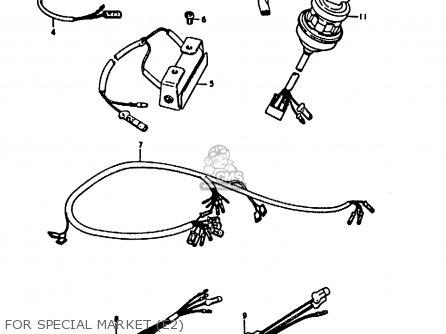 Suzuki A100 1973 (K) UNITED KINGDOM (E02) parts lists and