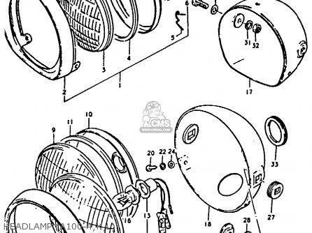 Suzuki A100 Wiring Schematic Suzuki Motor Schematics
