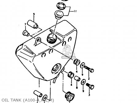 Suzuki A100 1974 (L) UNITED KINGDOM (E02) parts lists and