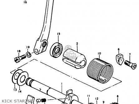 Suzuki A100 1975 (m) parts list partsmanual partsfiche