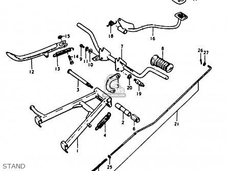 Suzuki A100 1975 (m) United Kingdom (e02) parts list