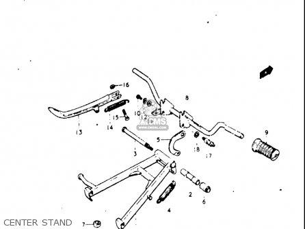 Suzuki A100 1976 1977 (a) (b) Usa (e03) parts list