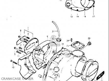 Suzuki A100 1976-1977 (usa) parts list partsmanual partsfiche