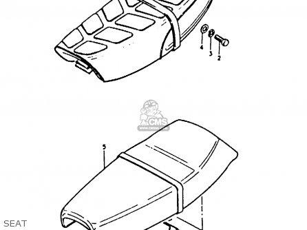 Suzuki A100 1979 (N) UNITED KINGDOM (E02) parts lists and