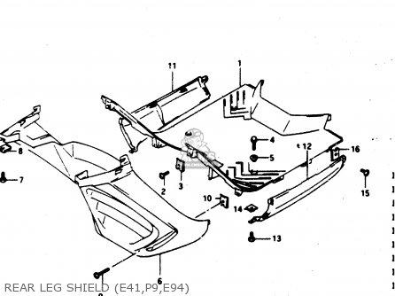 Suzuki Ad50 1994 (r) parts list partsmanual partsfiche