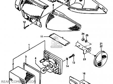 Suzuki Ae50 1990 (l) Australia (e24) parts list