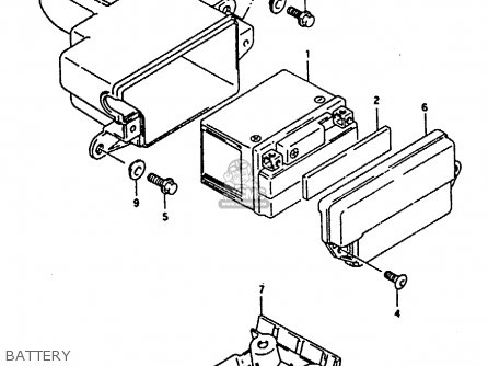 Suzuki Ah100 1994 (r) parts list partsmanual partsfiche