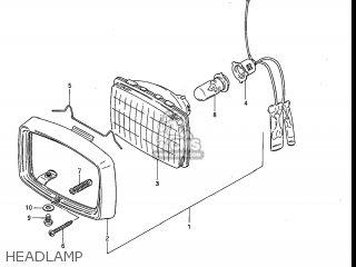 Suzuki ALT125 1985 (F) USA (E03) parts lists and schematics