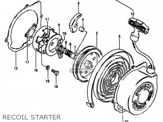 Suzuki Alt185 1985 (f) Usa (e03) parts list partsmanual