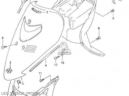 Suzuki An125 1995 (s) (e02 E04 E18 E22 E34) parts list