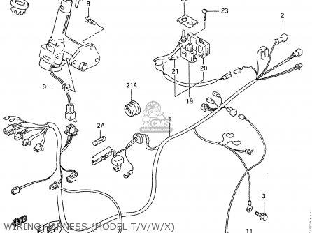 Suzuki An125 1996 (t) parts list partsmanual partsfiche