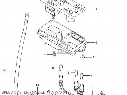 Suzuki An125u 1998 (w) Germany (e22) parts list