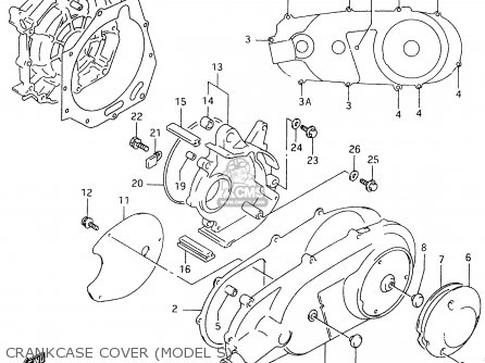 Suzuki AN125U 2000 (Y) parts lists and schematics