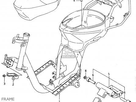 Suzuki AN125U 2000 (Y) parts lists and schematics