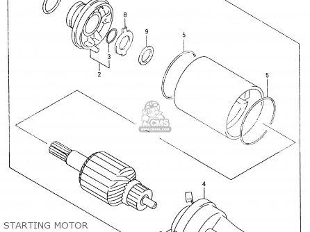 Suzuki An250 1998 (w) parts list partsmanual partsfiche