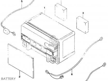 Suzuki An250 1999 (x) parts list partsmanual partsfiche