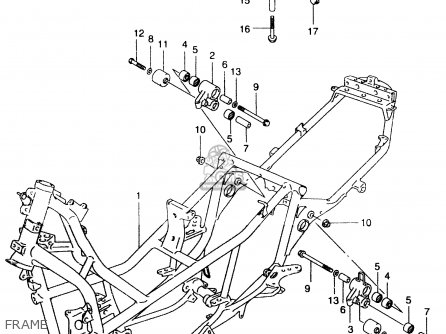 Suzuki An250 1999 (x) parts list partsmanual partsfiche
