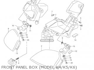Suzuki AN400S BURGMAN 2003 (K3) USA (E03) parts lists and
